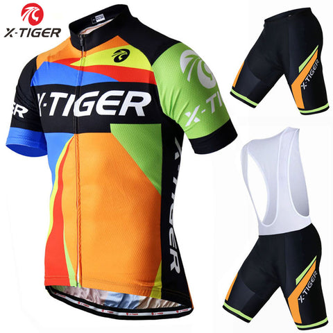 X-Tiger Short Sleeve Cycling Set - Rash Guard Hero