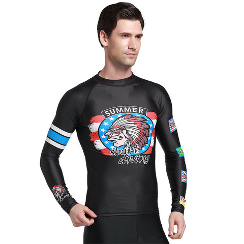 Men's Long Sleeves Surfing Rash Guard - Rash Guard Hero