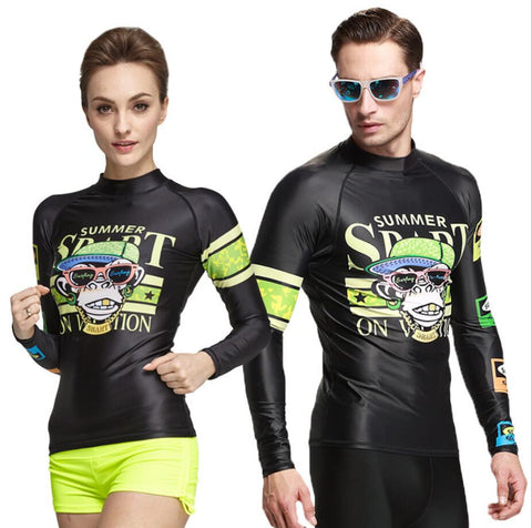 His & Her Matching Swim Rash Guard - Rash Guard Hero