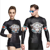 His and Her Swimwear Rash Guard - Rash Guard Hero