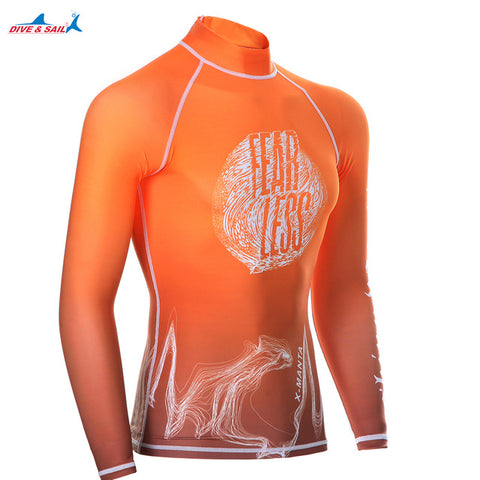 Dive & Sail men's Rash Guard Swimwear (Fearless) - Rash Guard Hero