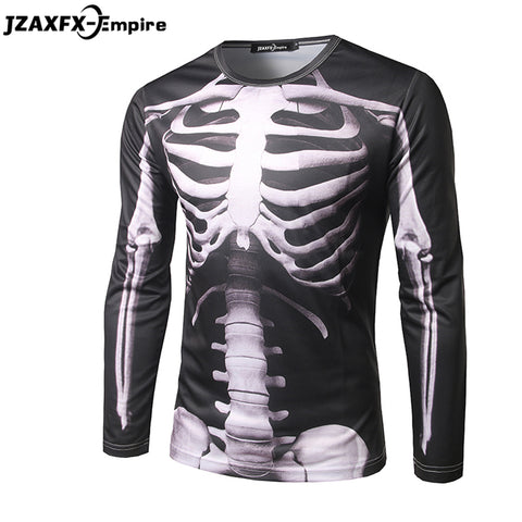 Skeleton X-ray Long Sleeve Rash Guard - Rash Guard Hero