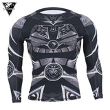 Samurai Series: Long Sleeve Rash Guard & Spat (Black) - Rash Guard Hero