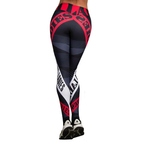 LADIES Printed Yoga Pants & Fitness Sportswear - Rash Guard Hero