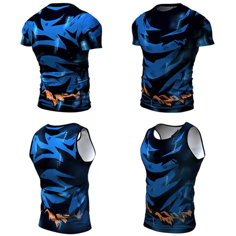 2019 DBZ Dragon Ball Rash Guard (short sleeve & sleeveless) - Rash Guard Hero