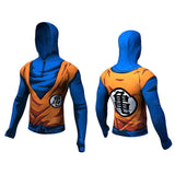 DBZ Long Sleeve Hoodie Rash Guard - Rash Guard Hero