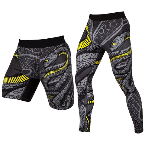Black Mamba Compression Pants (Spat) & Shorts - Rash Guard Hero