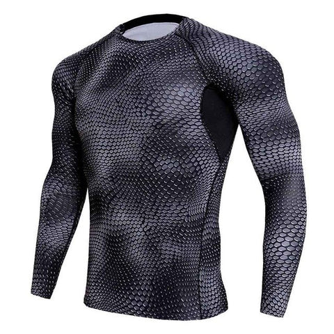 Snake Skin Pattern Short & Long Sleeve Rash Guard - Rash Guard Hero