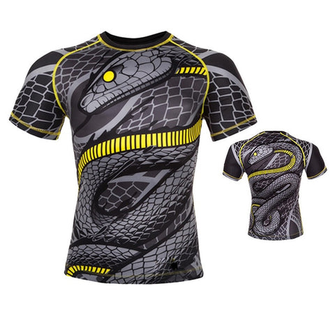 Black Mamba Short Sleeve Compression Shirt - Rash Guard Hero