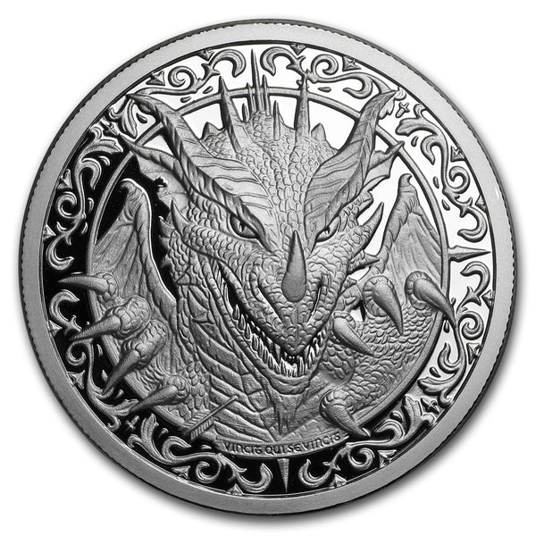 "The Dragon: 2 oz ""PROOF"" .999 Fine Silver Round - The Destiny Series"