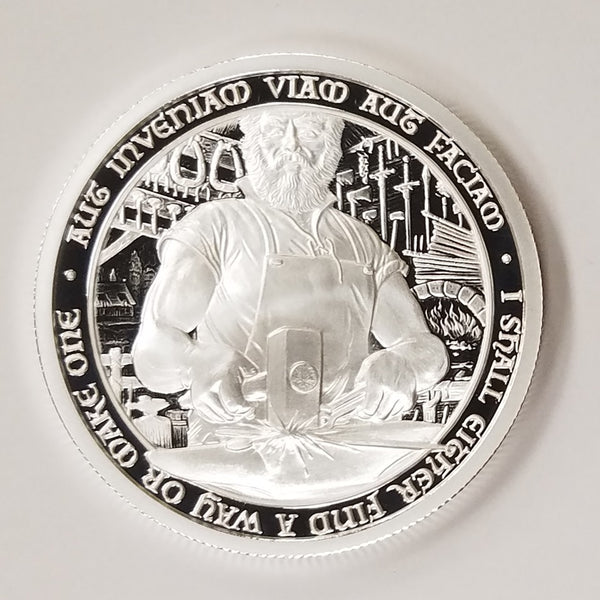 "The Blacksmith: 2 oz ""PROOF"" .999 Fine Silver Round - The Destiny Series"