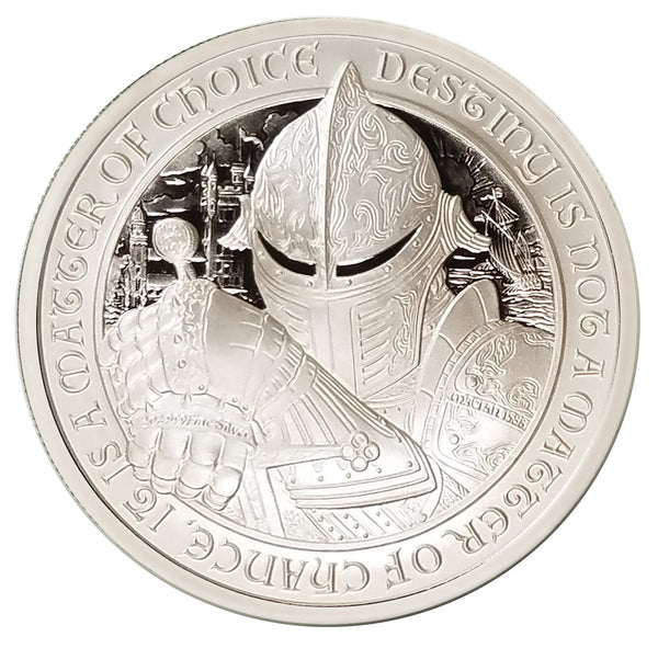 "THE RAVEN - ""Ardnamurchan"" - 2 oz ""Brilliant Uncirculated"" .999 Fine Silver Coin - The Destiny Series"