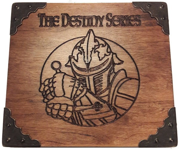 Antiqued Cherry Wood Display Box - The Destiny Series