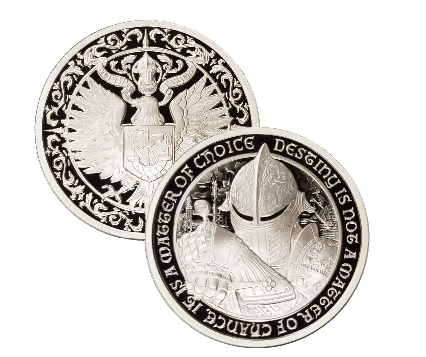 "THE RAVEN: 2 oz ""PROOF"" .999 Fine Silver Round - The Destiny Series"