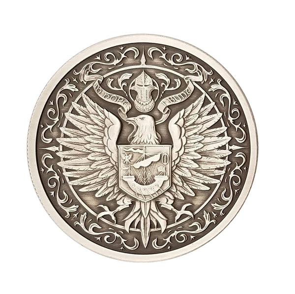 THE RAVEN: 2 oz Antiqued .999 Fine Silver Round - The Destiny Series