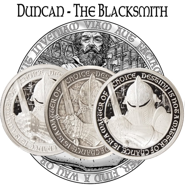 "Destiny of Three ""Duncan The Blacksmith - (includes all three coins) - The Destiny Series"