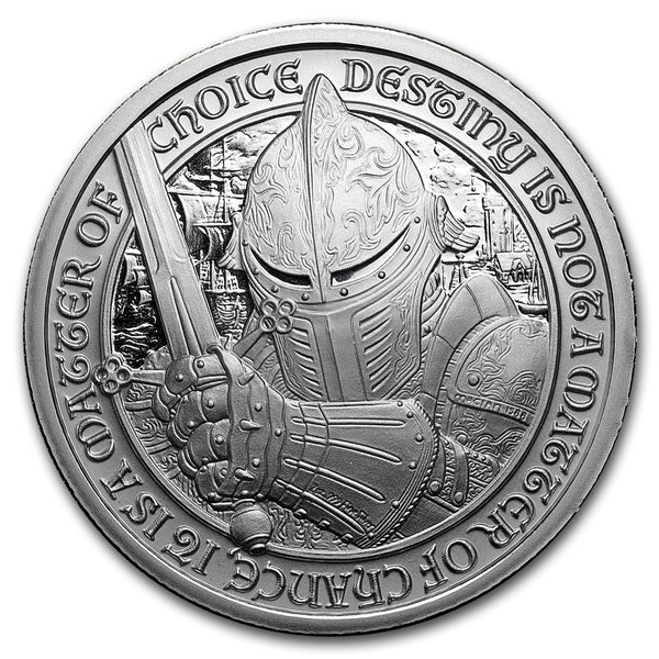 "The Blacksmith: 2 oz ""Brilliant Uncirculated"" .999 Fine Silver Round - The Destiny Series"