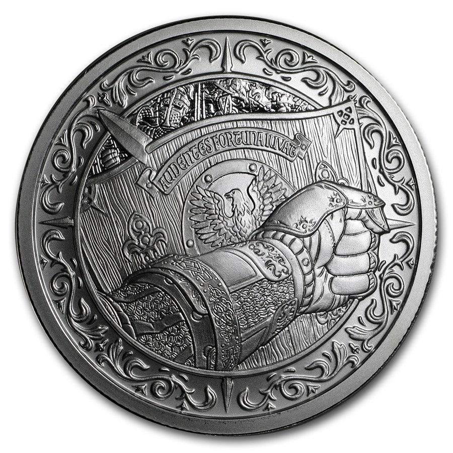 "THE SHIELD - 2 oz ""Brilliant Uncirculated"" .999 Fine Silver Round - The Destiny Series"