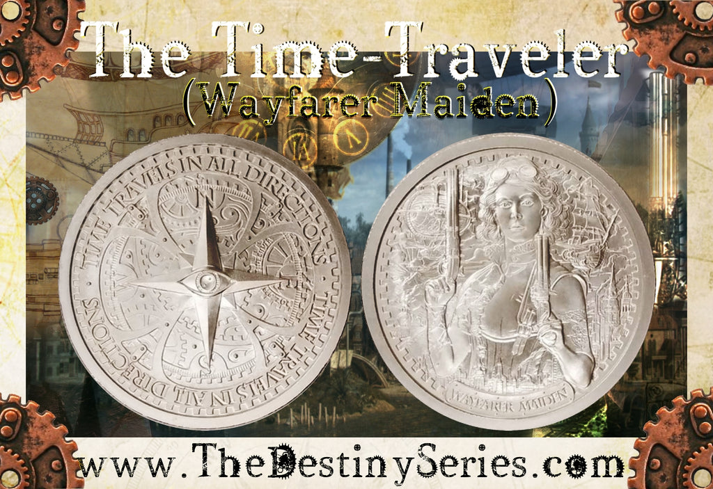 "Wayfarer Maiden - 2 oz ""Brilliant Uncirculated"" .999 Fine Silver Round - The Destiny Series"