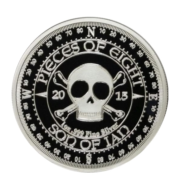 "Son of Ian - ""Pieces of Eight""   Proof 1 oz .999 Fine Silver Round - The Destiny Series"