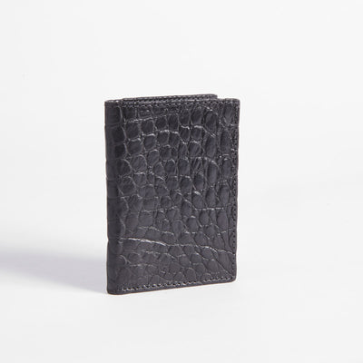 Tri-fold Crocodile Wallet