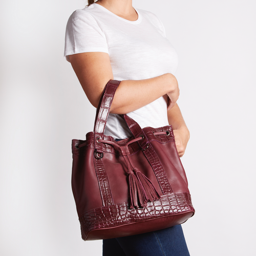 Crocodile Tassel Handbag