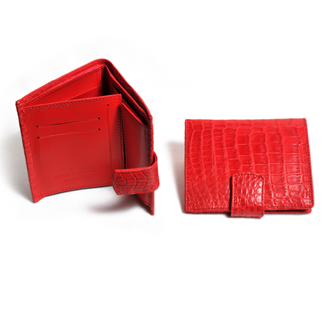 Crocodile Amieka Compact Purse with tab