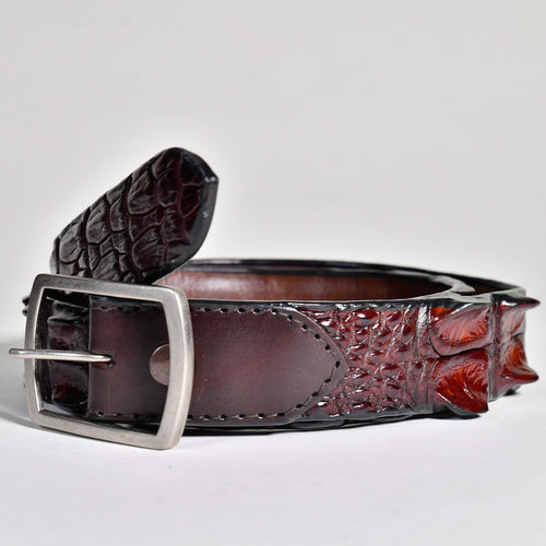 Crocodile Hornback Belt - Wide