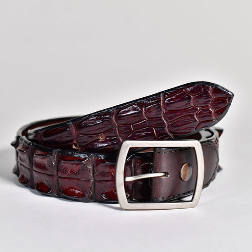Crocodile Hornback Belt Wide