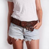 Ladies Crocodile Waist Belt - Limited Edition