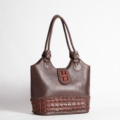 Crocodile Backstrap Bucket Bag