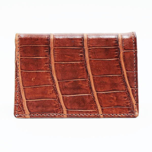 Crocodile Leather Business Card Wallet (full croc skin)