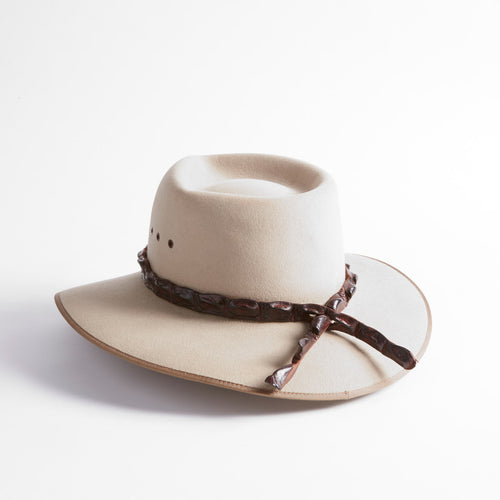 Crocodile Leather Hatband (Plain)