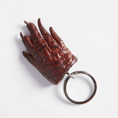 Crocodile Leather Claw Key Ring
