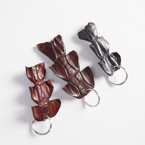 Crocodile Leather Tail Skin Key Ring