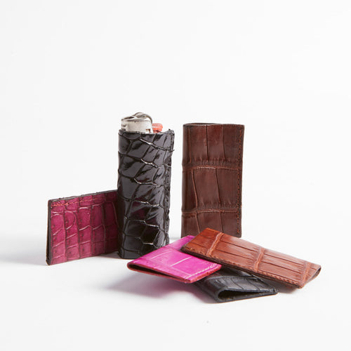 Crocodile Leather Lighter Cover