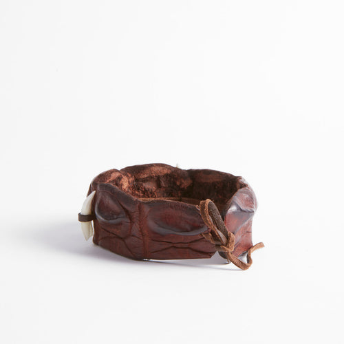 Crocodile Tooth Leather Wristband