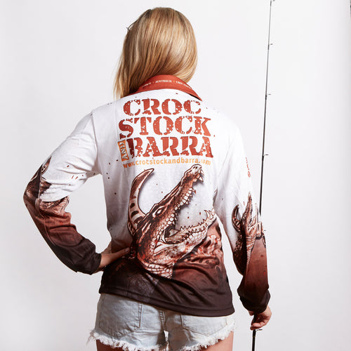 Croc Stock and Barra Fishing Shirt