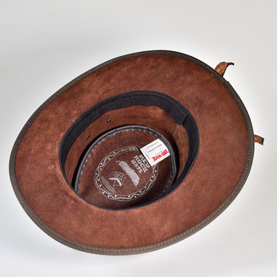 NT Outback Leather Hat w/ Crocodile Teeth Leather Hatband