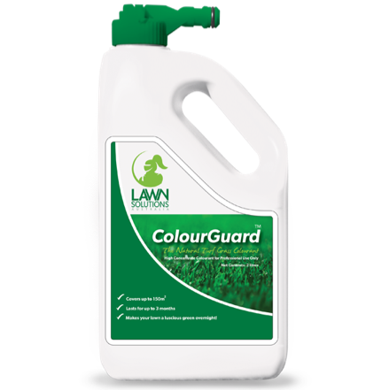 Lawn Solutions Australia LSA ColourGuard Lawn Colourant 2lt hose-on spray bottle