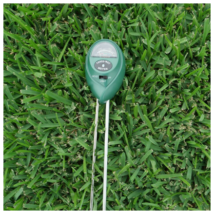 3-Way Soil Meter pH Moisture Light Tester on Sir Walter DNA Certified Grass