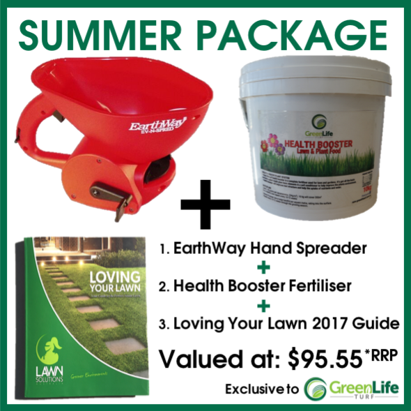 Health Booster Fertiliser; Hand Fertiliser & Seed Spreader; Loving Your Lawn Guide - Buy Online