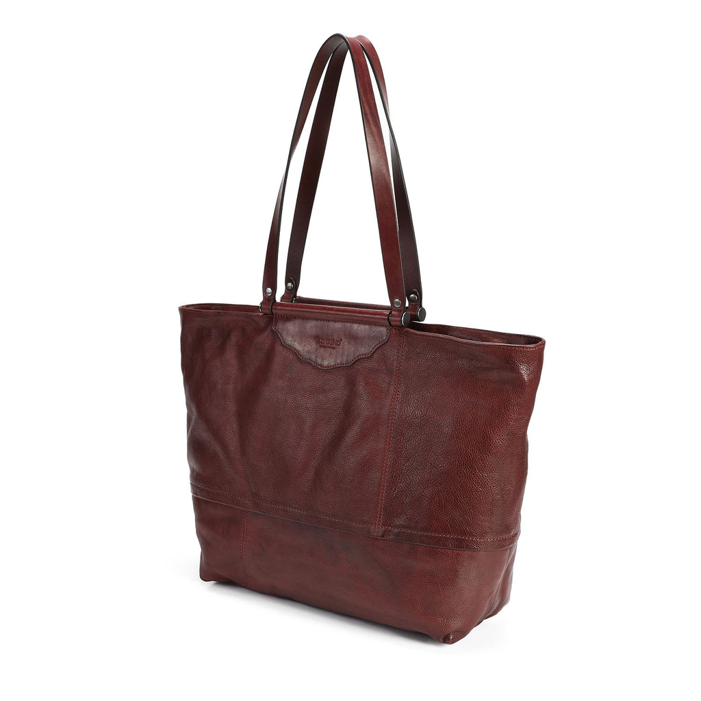 Holly Leaf Leather Tote