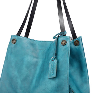 Daisy Leather Tote