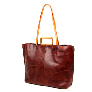 High Hill Leather Tote - Old Trend