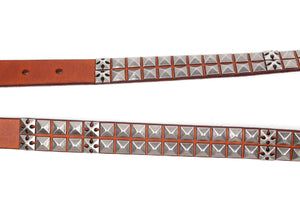 Lizzy Brown Leather Belt