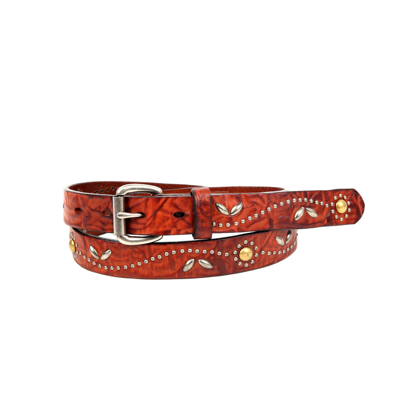 Floral Breeze Genuine Leather Belt