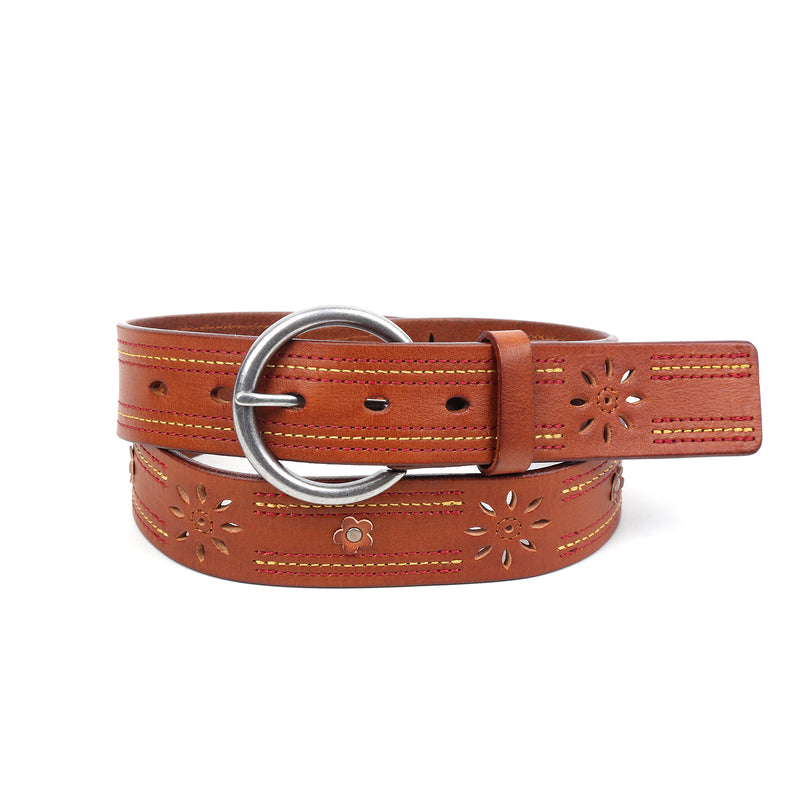 Blossom Leather Belt