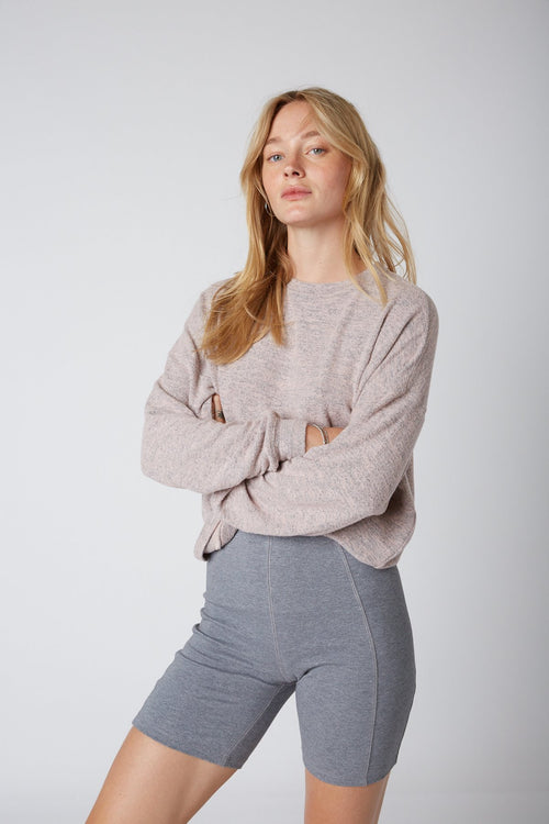 HACCI PULLOVER - BLUSH OATMEAL