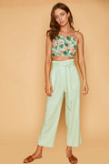 ISLAND HOPPER SHOULDER TIE TOP - MINT FLORAL